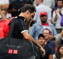 El tenista suizo perdió por primera vez en su carrera ante Grigor Dimitrov. Foto: DOMINICK REUTER / AFP
