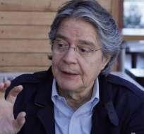 QUITO, Ecuador.- Sin más detalles de su participación electoral, Guillermo Lasso dijo no temerle a Correa. Foto: API