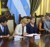 GUAYAQUIL, Ecuador.- Las reformas al COIP y las sanciones a jueces se abordaron durante la firma de convenio. Foto: API