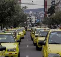 QUITO, Ecuador.- Los taxistas prevén retomar sus actividades sin restricciones el 1 de diciembre. Foto: API