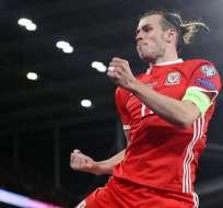 Bale festejando el gol de la victoria. Foto: Twitter Gareth Bale.