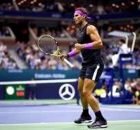 Rafael Nadal en el partido que lo clasificó a la final. Foto: Twitter US Open.