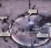 Esta imagen de alta resolución compartida por Donald Trump es una supuesta plataforma de lanzamiento espacial iraní.