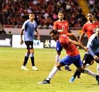 Partido entre Uruguay y Costa Rica. Foto: Twitter Uruguay.