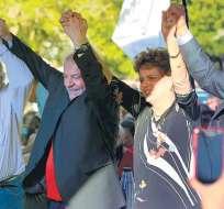 En marzo de 2018, Mujica, Dilma Rousseff y Correa participaron en un acto de apoyo a Lula da Silva. Foto: AFP