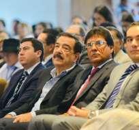 GUAYAQUIL, Ecuador.- El exacalde de Guayaquil dio una charla magistral en un congreso de municipalidades. Foto: API