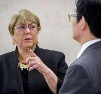 SUIZA.- La Alta Comisionada de la ONU para los Derechos Humanos, Michelle Bachelet, hizo la denuncia. Foto: AFP