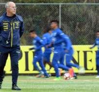 Jorge Célico, entrenador de Ecuador.