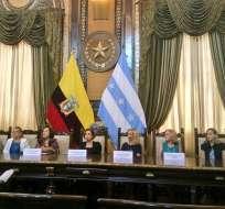 GUAYAQUIL, Ecuador.- El comité organizador de la Feria del Libro ofreció una rueda de prensa este 9 de septiembre.