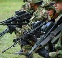 Las acciones combinadas se desarrollarán ante anunciado rearme de FARC. Foto: Archivo AFP