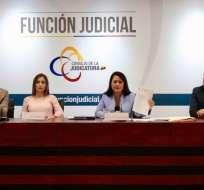 QUITO, Ecuador.- La Judicatura revisa los informes preliminares sobre la productividad de los magistrados. Foto: Twitter