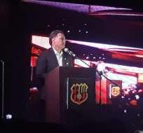 Alfaro Moreno en la presentación de su candidatura. Foto: Sentimiento Barcelones.