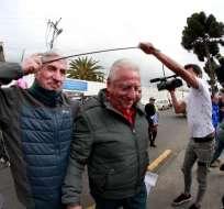 ECUADOR.- El expresidente de la FEF salió de la cárcel de Ambato, este jueves. Foto: API