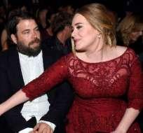 Adele y Simon tienen un hijo juntos, Angelo, de 6 años. Foto: AFP