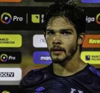 Luis Amarilla tras un partido de LigaPro. Foto: API.