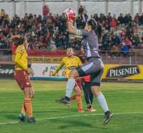 Partido entre Deportivo Cuenca y BSC. Foto: Twitter Superliga Femenina.