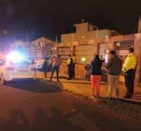 El hecho se registró en el barrio Jordán de La Joya, en la parte oriental de Ambato. Foto: Cortesía