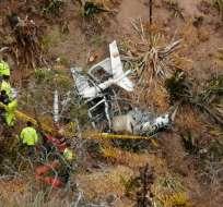 El helicóptero pertenecía a AVIOANDES S.A. Foto: Cortesía