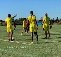 Jugadores de BSC en una práctica.