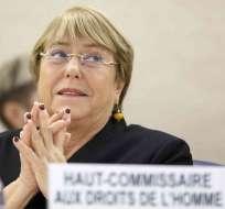 """CHILE.- """"No he tenido nunca un vínculo con OAS, ni con ninguna otra empresa"""", dijo Bachelet. Foto: AP"""
