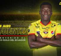Jhon Jairo Cifuente, goleador ecuatoriano.