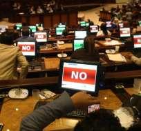 QUITO, Ecuador.- La propuesta de despenalizar el aborto no alcanzó los votos necesarios en la Asamblea. Foto: API