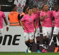 Los Del Valle los superaron 2-0 en la ida de las semifinales de la Copa Sudamericana. Foto: AFP