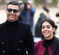 Cristiano Ronaldo junto a Georgina.
