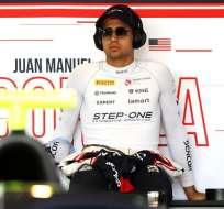 Juan Manuel Correa previo a una carrera. Foto: Twitter personal.