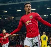 Jugador del United celebra su gol. Foto: Twitter Manchester United.
