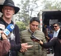 QUITO, Ecuador.- El ciudadano sueco cuestionó que la empresa Novaestrat tuviera la información. Foto: API