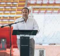 El presidente de la Federación Ecuatoriana de Fútbol (FEF) sigue analizando nombres. Foto: Tomada de @FEFecuador
