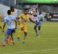 Los ambateños igualaron 1-1 con los 'cetáceos' en el estadio Bellavista. Foto: API