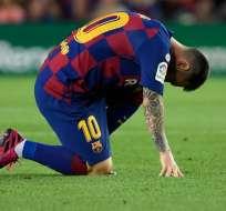El FC Barcelona no ha confirmado cuánto tiempo estará de baja el argentino. Foto: LLUIS GENE / AFP
