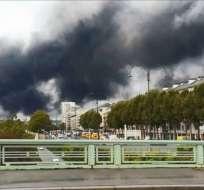 FRANCIA.- Las autoridades temen ahora una posible contaminación del río Sena, que atraviesa París. Foto: AFP