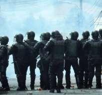 Atacan Gobernación de Carchi en tercer día de protestas. Foto: Paola Andrade
