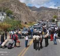 En Tulcán, dirigentes de las manifestaciones esperan diálogo con representante del régimen. Foto: API