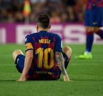 El entrenador del FC Barcelona espera que pronto regrese la 'pulga' al equipo. Foto: LLUIS GENE / AFP