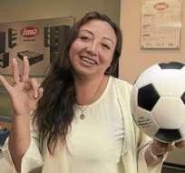 Gordón fue baleada el 29 de agosto de 2013 al sur de Quito. Foto: Bendito Fútbol