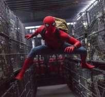 """Tom Holland en una escena de """"Spider-Man: Homecoming"""" en una imagen proporcionada por Columbia Pictures."""