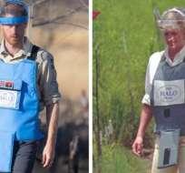 El príncipe Harry, como su madre 22 años antes que él, caminó por un campo minado en Angola.