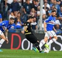 Stefano Sensi en un remate al arco rival. Foto: Twitter Inter.