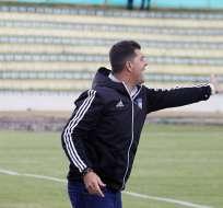 El entrenador de Emelec destacó el buen funcionamiento del equipo ante Olmedo. Foto: API