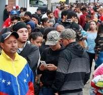 Más de 850.000 venezolanos han llegado a Perú. Foto: AFP