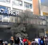 Los habitantes de Carchi acusan al Gobierno de incumplimiento. Foto: Twitter