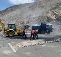 En Tulcán, no descartan seguir manifestaciones hasta que gobierno transfiera recursos. Foto: Tw @FazJhonatan