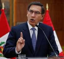 Presidente peruano anunció la disolución del Congreso. Foto: AFP