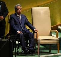 Presidente Moreno anunciará este martes las medidas económicas. Foto: AFP