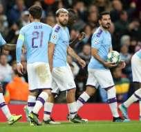 Jugadores del City tras el partido ante el Dinamo de Zagreb. Foto: Twitter Manchester City.