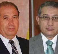 Los jueces Édgar Wilfrido Flores y Luis Manaces Enríquez. Fotos: Cortesía